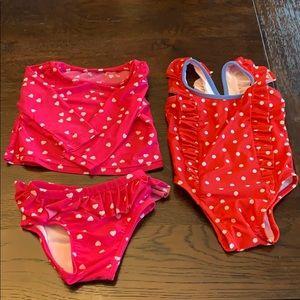 Baby Girl babyGap 6-12 month bathing suit lot